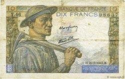 10 Francs MINEUR FRANCE  1943 F.08.08 TB+