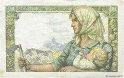 10 Francs MINEUR FRANCE  1943 F.08.08 TTB
