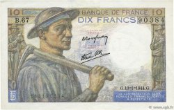 10 Francs MINEUR FRANCE  1944 F.08.10 SUP