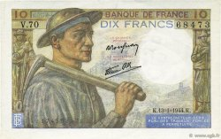 10 Francs MINEUR FRANCE  1944 F.08.10 SUP