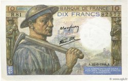 10 Francs MINEUR FRANCE  1944 F.08.12 SPL
