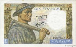 10 Francs MINEUR FRANCE  1944 F.08.12 SUP+