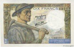 10 Francs MINEUR FRANCE  1944 F.08.12 NEUF