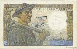 10 Francs MINEUR FRANCE  1947 F.08.17 SUP