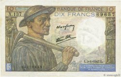 10 Francs MINEUR FRANCE  1947 F.08.17 SUP+