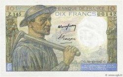 10 Francs MINEUR FRANCE  1947 F.08.18 SUP+