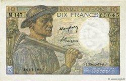 10 Francs MINEUR FRANCE  1947 F.08.18 SUP