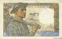 10 Francs MINEUR FRANCE  1947 F.08.19 TTB