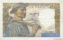 10 Francs MINEUR FRANCE  1949 F.08.20 TTB