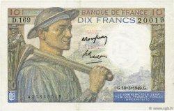 10 Francs MINEUR FRANCE  1949 F.08.20 pr.SPL