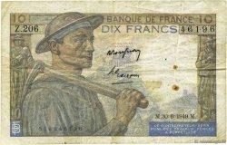 10 Francs MINEUR FRANCE  1949 F.08.22a TB
