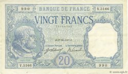 20 Francs BAYARD FRANCE  1917 F.11.02 TTB+