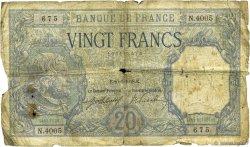 20 Francs BAYARD FRANCE  1918 F.11.03 pr.B