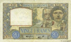 20 Francs SCIENCE ET TRAVAIL FRANCE  1940 F.12.04 TB