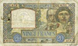 20 Francs SCIENCE ET TRAVAIL FRANCE  1940 F.12.04 B+