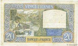 20 Francs SCIENCE ET TRAVAIL FRANCE  1940 F.12.06 TB