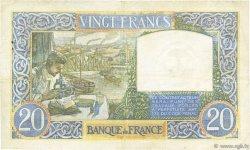20 Francs SCIENCE ET TRAVAIL FRANCE  1940 F.12.09 TB+