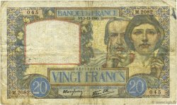 20 Francs SCIENCE ET TRAVAIL FRANCE  1940 F.12.10 B+