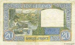 20 Francs SCIENCE ET TRAVAIL FRANCE  1941 F.12.12 TTB