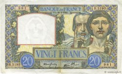 20 Francs SCIENCE ET TRAVAIL FRANCE  1941 F.12.12 TTB