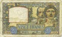 20 Francs TRAVAIL ET SCIENCE  FRANCE  1941 F.12.13 TB