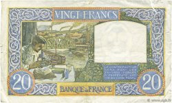 20 Francs SCIENCE ET TRAVAIL FRANCE  1941 F.12.15 TTB