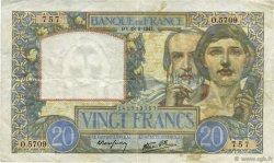 20 Francs SCIENCE ET TRAVAIL FRANCE  1941 F.12.18 TTB+