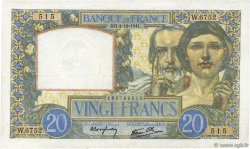 20 Francs SCIENCE ET TRAVAIL FRANCE  1941 F.12.20 pr.TTB