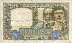20 Francs SCIENCE ET TRAVAIL FRANCE  1941 F.12.20 pr.TTB