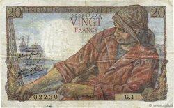 20 Francs PÊCHEUR FRANCE  1942 F.13.01 TTB