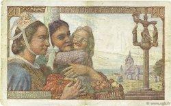 20 Francs PÊCHEUR FRANCE  1942 F.13.02 pr.TTB