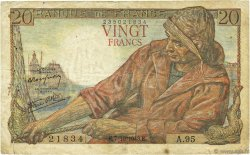 20 Francs PÊCHEUR FRANCE  1943 F.13.07 TB