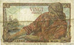 20 Francs PÊCHEUR FRANCE  1943 F.13.07 TB+