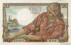 20 Francs PÊCHEUR FRANCE  1944 F.13.08 SUP