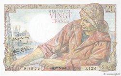 20 Francs PÊCHEUR FRANCE  1944 F.13.09 pr.SPL