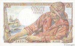 20 Francs PÊCHEUR FRANCE  1944 F.13.09 SUP+