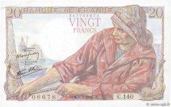 20 Francs PÊCHEUR FRANCE  1945 F.13.10 TTB+