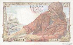 20 Francs PÊCHEUR FRANCE  1949 F.13.14 TTB+