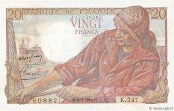 20 Francs PÊCHEUR FRANCE  1950 F.13.17a SUP+