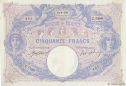 50 Francs BLEU ET ROSE FRANCE  1914 F.14.27 TTB