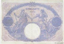 50 Francs BLEU ET ROSE FRANCE  1915 F.14.28 pr.TTB