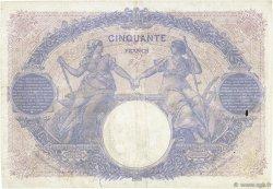 50 Francs BLEU ET ROSE FRANCE  1915 F.14.28 B+