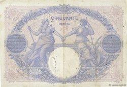 50 Francs BLEU ET ROSE FRANCE  1915 F.14.28 TB