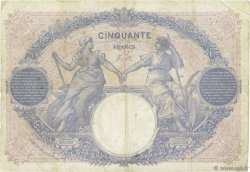 50 Francs BLEU ET ROSE FRANCE  1917 F.14.30 TB