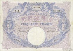 50 Francs BLEU ET ROSE FRANCE  1919 F.14.32 TB+
