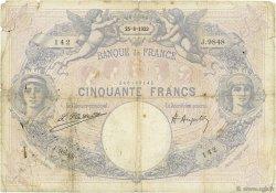 50 Francs BLEU ET ROSE FRANCE  1923 F.14.36 B