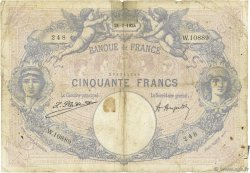 50 Francs BLEU ET ROSE FRANCE  1924 F.14.37 B