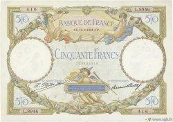 50 Francs LUC OLIVIER MERSON type modifié FRANCE  1931 F.16.02 TTB