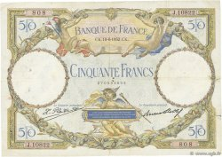 50 Francs LUC OLIVIER MERSON type modifié FRANCE  1932 F.16.03 TB