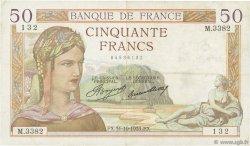 50 Francs CÉRÈS FRANCE  1935 F.17.19 TB+